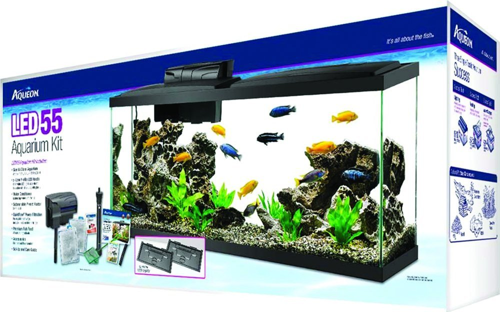 Aqueon Aquarium Fish Tank Starter Kit with LED Lighting